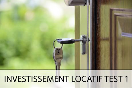 Investissement locatif Test 1